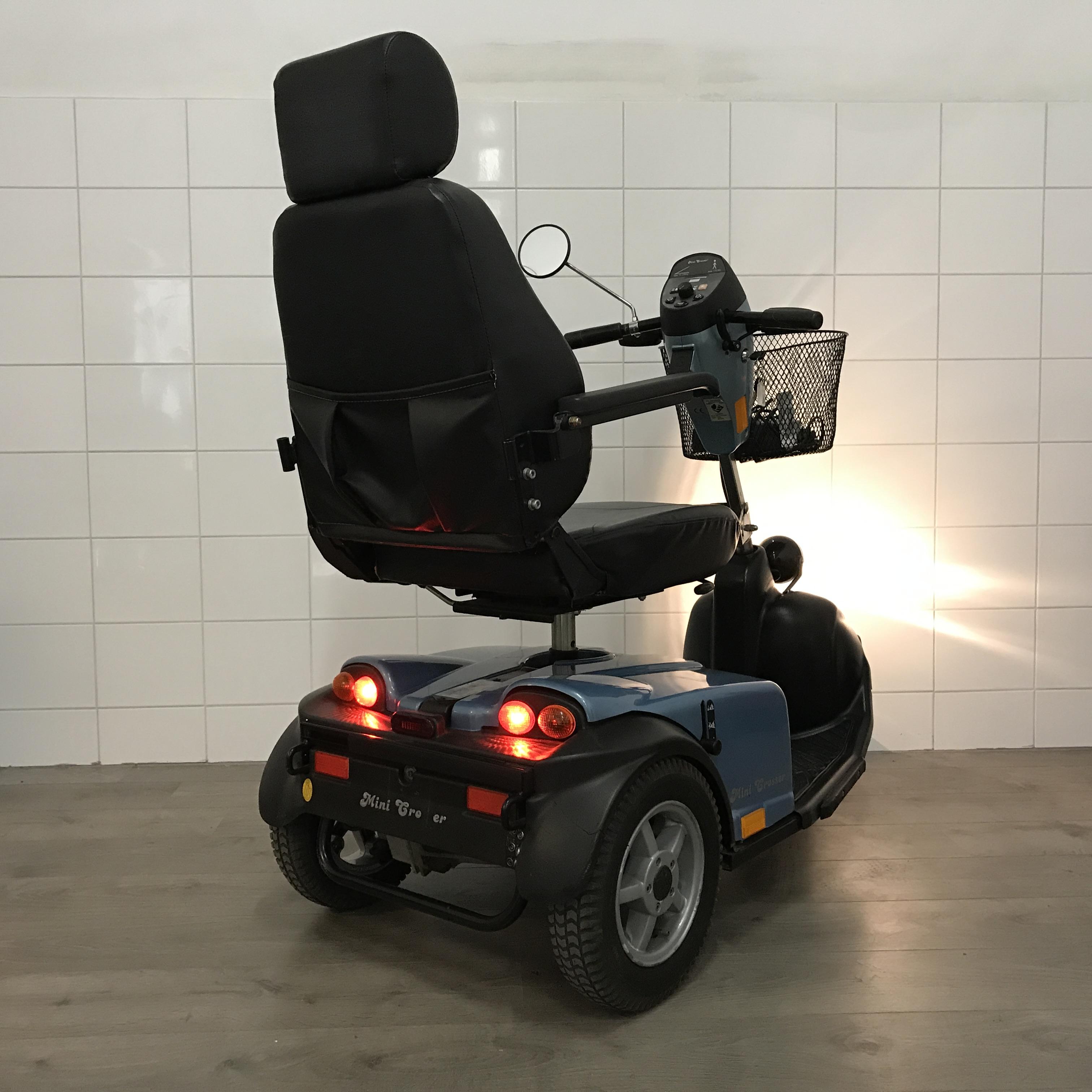 Minicrosser scootmobiel E130 achterkant